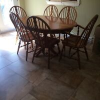 Hard wood table set
