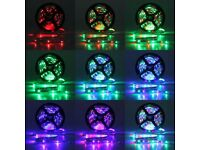 5M Full Kit 12V 300 LED 3528 RGB SMD Strip Non Waterproof 24Key Remote Controller