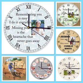 Personalised Wooden Clocks