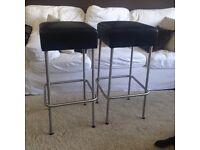 IKEA leather bar stools.
