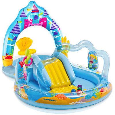 Frauen Pool (Intex Meerjungfrauen Spiel-Pool (Bunt) Pool Kinderpool Planschbecken mit Rutsche)