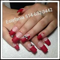 POSE D'ONGLES 25$ACRYLIC,RESINE,GEL,SHELLAC,PEDICURE ECT