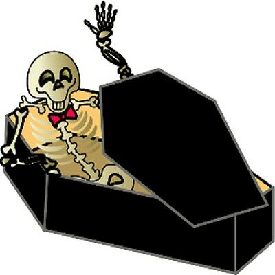 30 Custom Skeleton In Coffin Personalized Address Labels