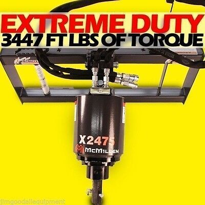 Skid Steer Auger Extreme Duty All Gear Drivemcmillen X2475 Hex W 9 Auger Bit