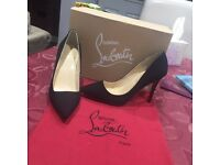 SUEDE LOUBOUTIN HEELS ONLY £75