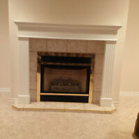Mantle and insert propane fireplace
