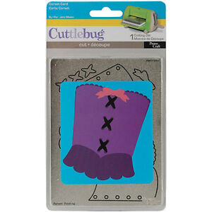 Cuttlebug A2 Cutting Die - Corset Card - $18
