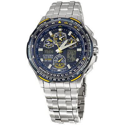 Citizen Men's JY0040-59L Blue Angels Skyhawk A-T Stainless Steel Eco-Drive Watch