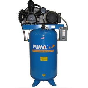 Puma 7 5 HP 80 Gallon Two Stage Air Compressor 208 230V 3 Phase | eBay