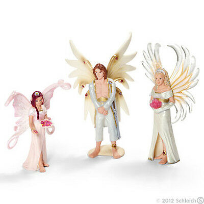 SCHLEICH Bayala 41809 Elf Wedding Scenery Pack - Sireel, Solfur & Flower Girl