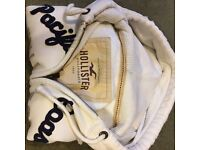 White Men's Hollister Jacket Medium