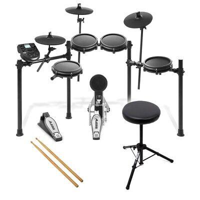 Alesis Nitro Mesh Kit USB MIDI Electronic Drum Kit with Drum Stool & Sticks