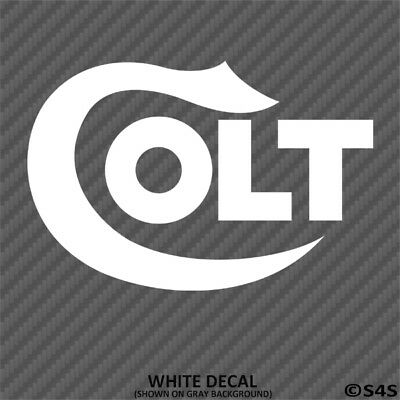 Colt Firearms Logo Vinyl Decal Sticker - Choose Color/Size