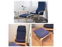 Children's IKEA Poäng Chair & Footstool