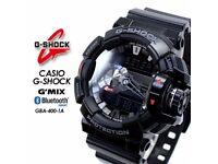 CASIO G-Shock Watch GBA-400-1AER Bluetooth Music control NEW Warranty