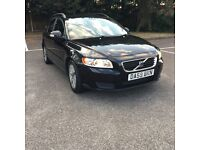 Volvo v50 1.6 Diesel-estate-59 plate-black +only £30 year road tax-1 owner-px welcome