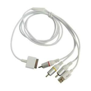 RCA AV CABLE TO TV & USB DATA CABLE FOR APPLE IPOD & IPHONE V2.2