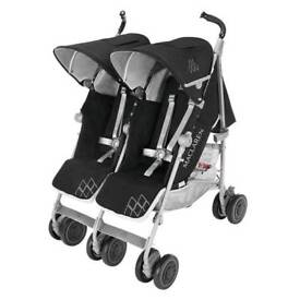 **REDUCED**Maclaren Twin Techno Stroller Buggy Pushchair Used Once Like New Crayford