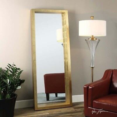 Extra Large Gold Wall Floor Dressing Leaner Mirror Xl 75
