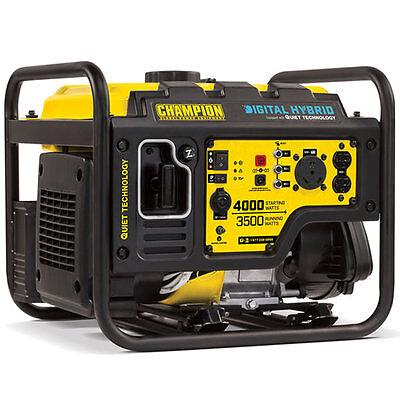 Champion 100302 - 3500 Watt Digital Hybrid Portable Generator W Rv Outlet