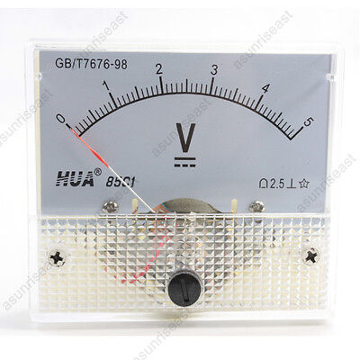 1 Dc 5v Analog Panel Volt Voltage Meter Voltmeter Gauge 85c1 White 0-5v Dc