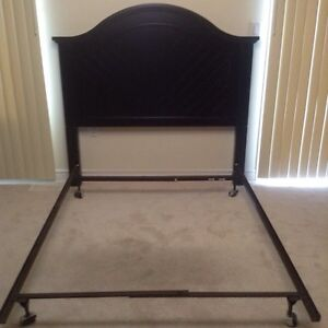 Black double bed