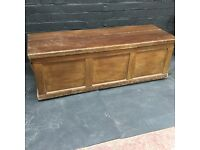 Beautiful Victorian pine blanket box