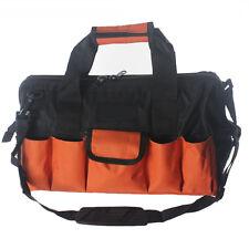 28 Pocket Large Tool Bag Metal Frame Zipper Hard Base Removable Shoulder Strap