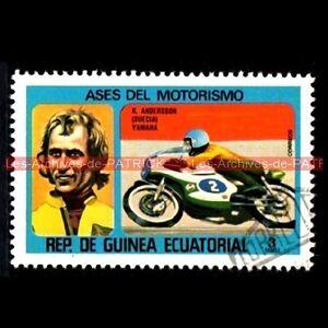 ANDERSSON Kent Pilote YAMAHA GUINEA Moto Timbre Poste - France - TIMBRE POSTE MOTO Kent ANDERSSON Pilote YAMAHA Pays : REP. DE GUINEA ECUATORIAL - République de GUINEE EQUATORIALE Année : 1976 Oblitéré , trs bon état Dimensions : 30x47 mm !!! Document Original ; NO COPY !!! Inscrivez-vous PayPal. Cest sim - France