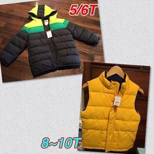 NWT Gymboree winter jacket 5/6T $49. Kid vest size L(10-12) $29