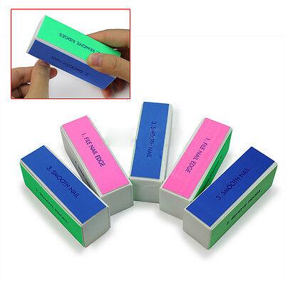 Pro-nail Care (5Pcs Women Pro Nail Art Care 4 Way Shiner Buffer Buffing Block Sanding File)