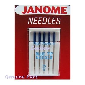 JANOME 100% Genuine BLUE TIP 75/11 SEWING MACHINE NEEDLES EMBROIDERY 1st Class