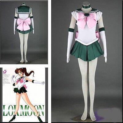 Sailor Moon Sailor Jupiter Kino Makoto Cosplay Costume Sailor Uniform