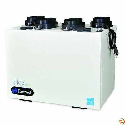 "Fantech Flex - 106 CFM - Heat Recovery Ventilator (HRV) - Top Ports - 5"" Duct..."