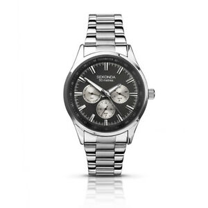 Sekonda Mens Chronograph Stainless Steel Bracelet Watch 50 mtr Water Resistant
