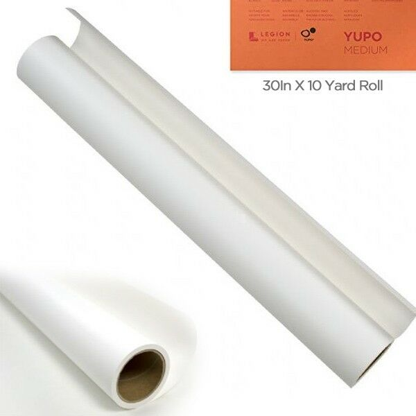 Yupo Multimedia Paper Roll 30 inches x 10 Yards - White 74 lb.