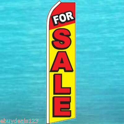 For Sale Flutter Flag Tall Vertical Advertising Sign Feather Swooper Banner 1810