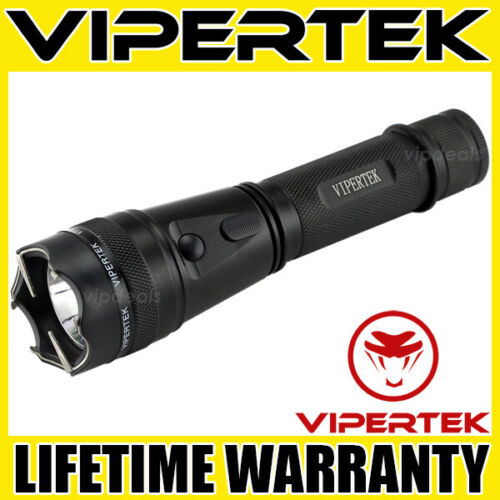 VIPERTEK Stun Gun VTS-195 - 550BV Metal Heavy Duty Rechargeable LED Flashlight