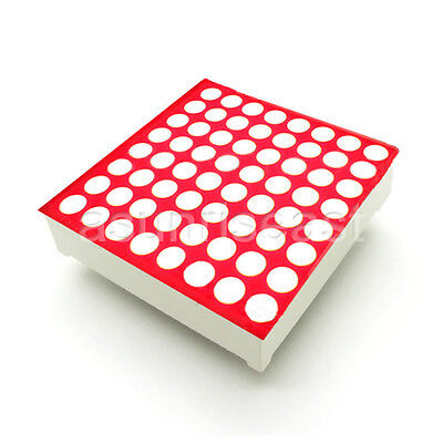 10 X Red 3mm Led Dot Matrix Display Module Common Anode 8x8 64 Point 16-pin