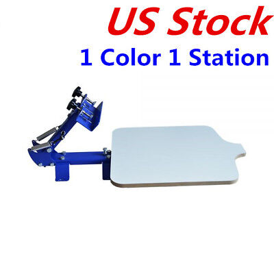 Us Stock -1 Color 1 Station T-shirt Silk Screen Printing Machine