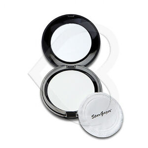 Stargazer Pressed Powder Foundation Make Up Compact with Mirror - White Goth
