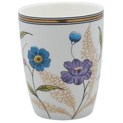 Greengate Latte Cup TIPHANIE weiß Goldrand Gate Noir Blumen Becher Porzellan Green Cup