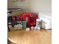 Tommee tippee perfect prep machine and steriliser inc new bottles