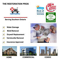 Water Damage/Mold: Restoration, Fast, Insurance Approved