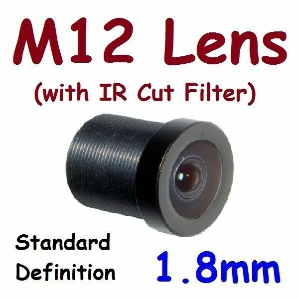 "Sunvision 1.8mm Monofocal 170⁰ AOV M12 1/4"" Board Lens + IR Cut Filter for FPV"