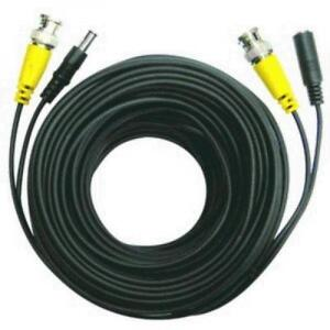 2-in-1 Security Camera Cable with Power - BNC -  M/DC 5.5mmx2mm - Black