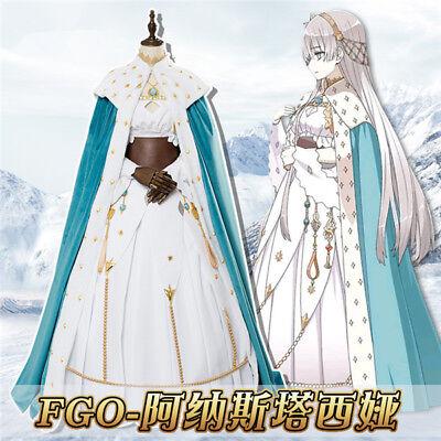 Anime Fate/Grand Order Anastasia Princess Dress Blue Cloak Cosplay Costume - Anastasia Costume