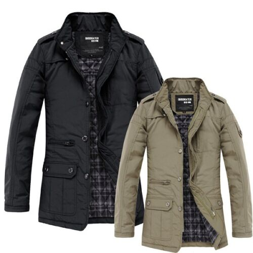 $28.88 - Fashion Mens Jacket Warm Winter Casual Coat Overcoat Outwear Black Military New