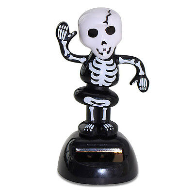 Halloween Dancing Skeleton Solar Powered Bobble Head Toy Scary Funny Decoration - Solar Dancing Halloween