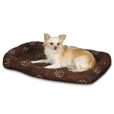 dog bed crate mat with pawprint embroidery